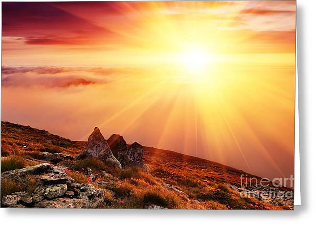 Beautiful Summer Landscape Greeting Card by Boon Mee