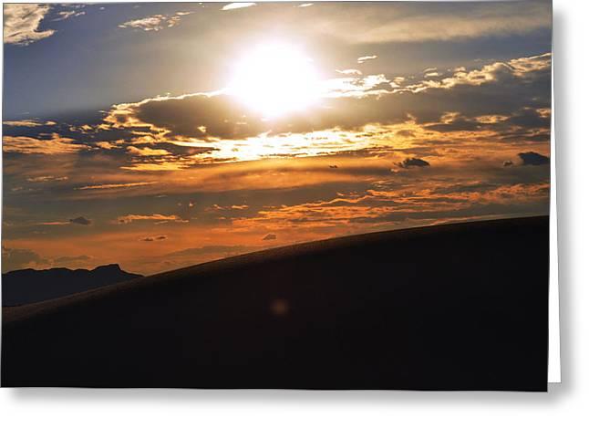 Beautiful Sun Set Greeting Card by Danyele Skeels