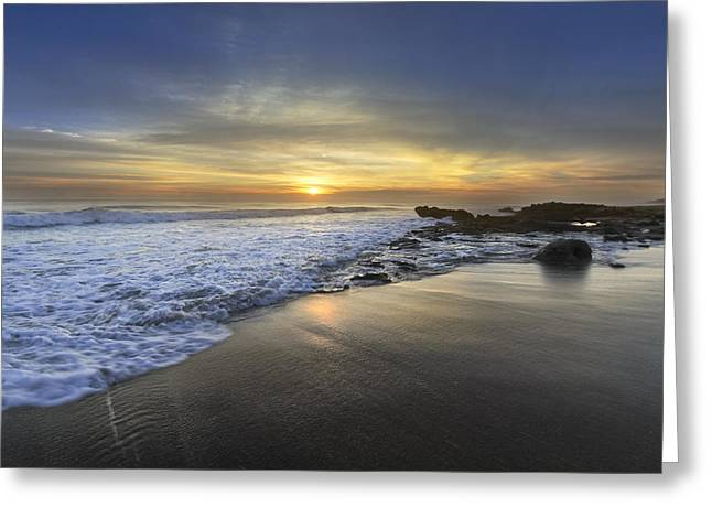 Beautiful Sunrise Greeting Card by Debra and Dave Vanderlaan