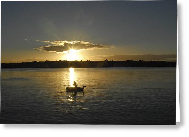 Beautiful Sunset Greeting Card by David Yack