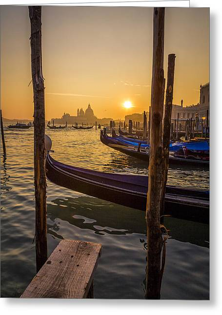 Beautiful Sunset In Venice Greeting Card by Francesco Rizzato