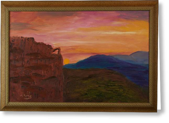 Beautiful Sunset Greeting Card by Margaret Pappas