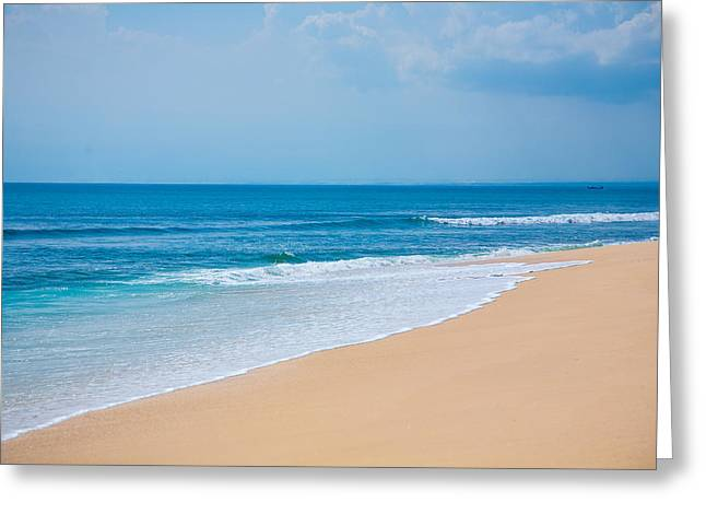 Beautiful Surfing Tropical Sand Beach Greeting Card