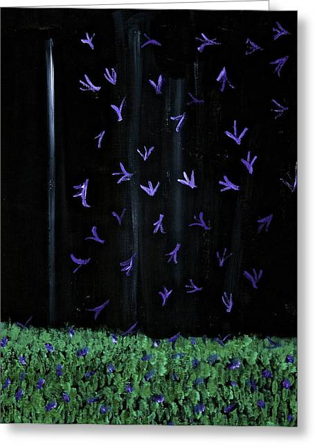 Beautiful Things That Happen At Night Greeting Card by Tracey Myers