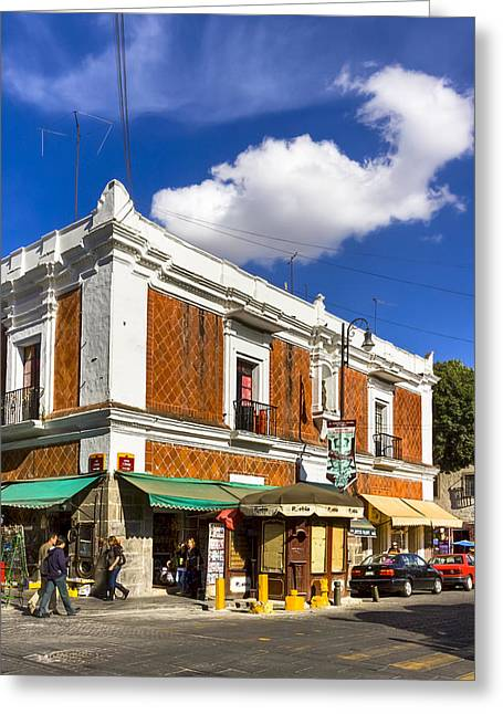 Beautiful Tile Facade In Puebla Greeting Card