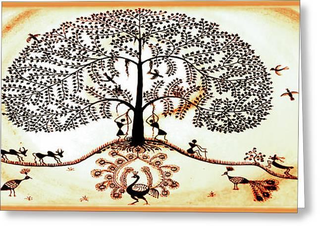 Beautiful Tree Of Life Greeting Card by Anjali Vaidya