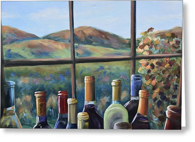 Greeting Card featuring the painting Beautiful View by Donna Tuten