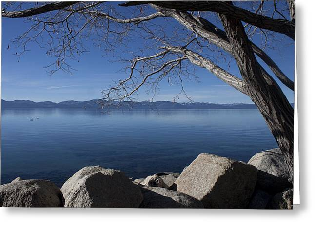 Beautiful View Of Lake Tahoe Greeting Card