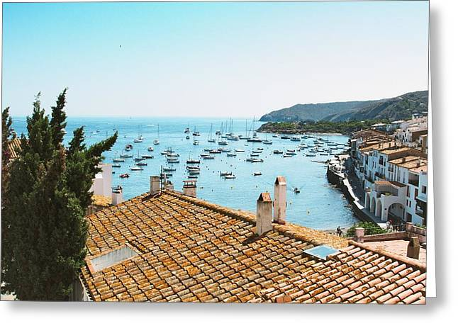 Beautiful Village In Spain Greeting Card by Stock Mad Photographers