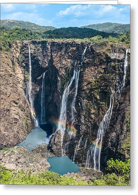 Beautiful Waterfalls In India Greeting Card