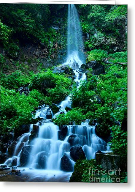 Beautiful Waterfalls In Karuizawa Japan Greeting Card