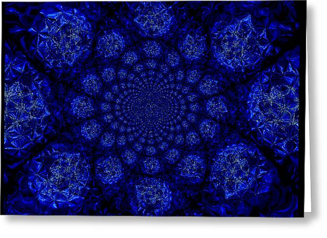 Beautifully Blue Greeting Card by A Dx