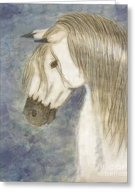 Beauty And Strength1 Greeting Card by Debbie Portwood