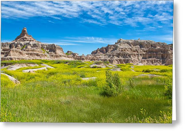 Greeting Card featuring the photograph Beauty And The Badlands by John M Bailey
