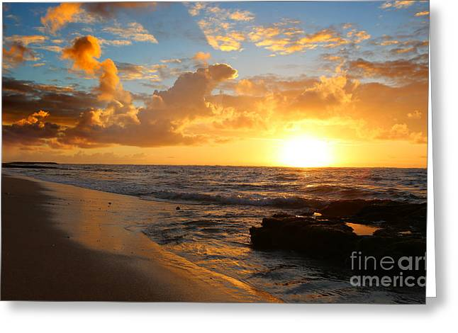 Beauty And The Beach Greeting Card by Deena Otterstetter