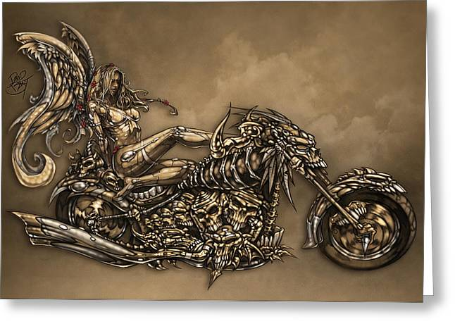 111aba96f64 Greeting Card featuring the digital art Beauty And The Beast by David Bollt