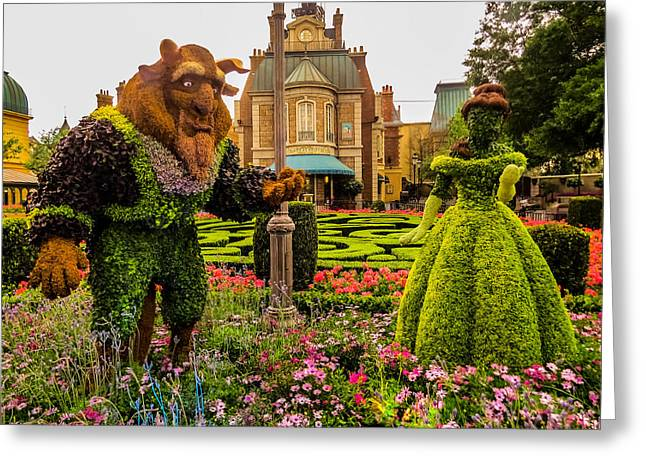 Beauty And The Beast Greeting Card by Zina Stromberg