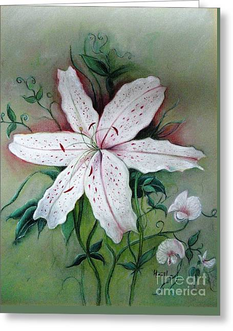 Greeting Card featuring the painting Beauty For Ashes by Hazel Holland