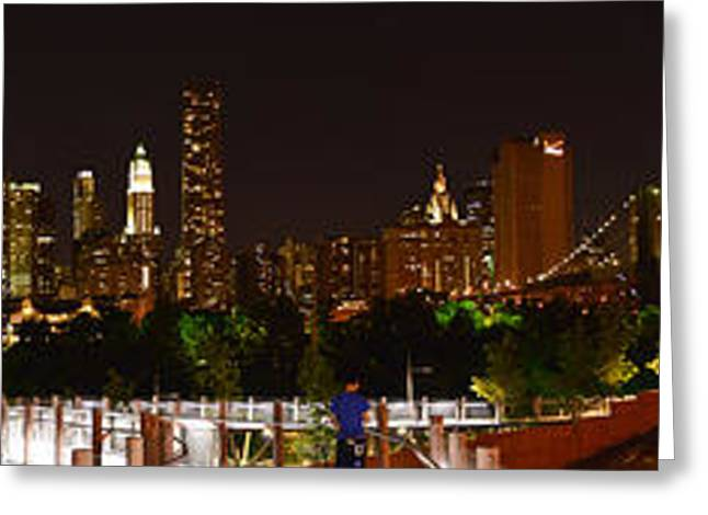 Beauty From Brooklyn Bridge Park Greeting Card