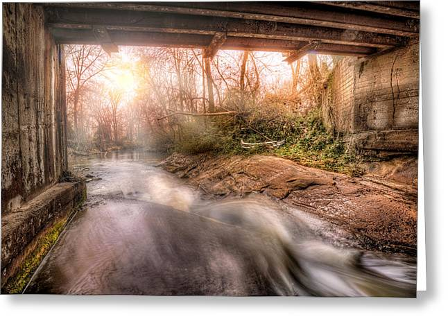 Beauty From Under The Old Bridge Greeting Card