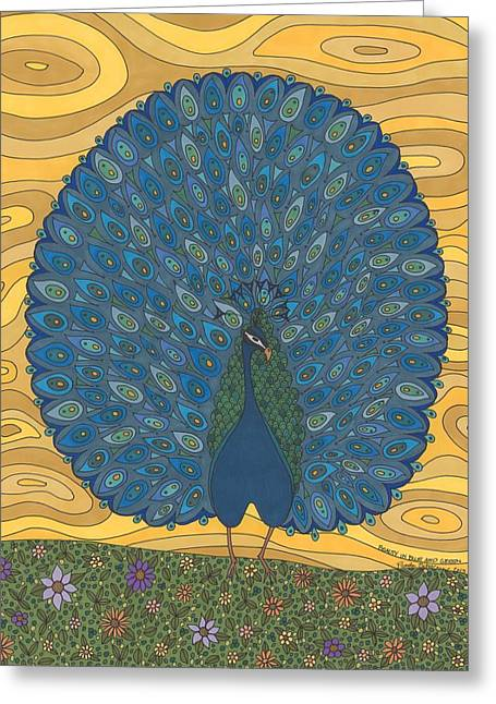 Beauty In Blue And Green Greeting Card by Pamela Schiermeyer