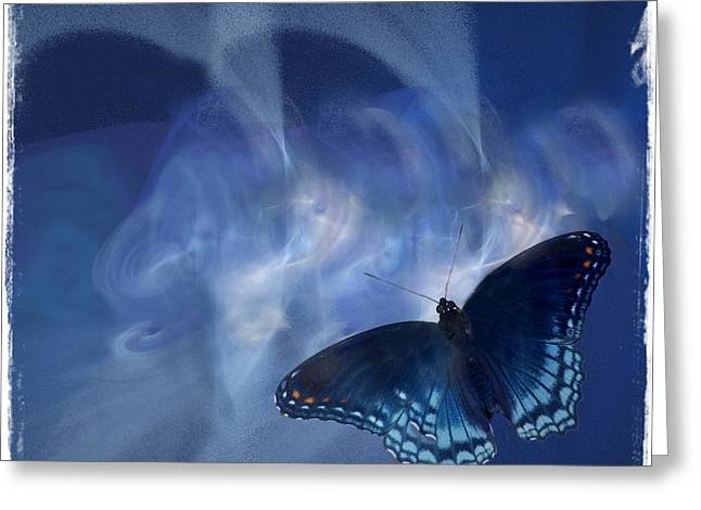 Beauty In Blue Greeting Card by Sylvia Thornton