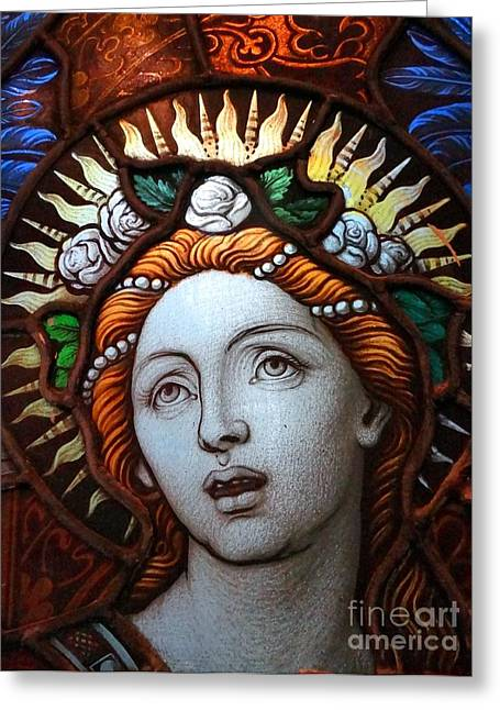 Beauty In Glass Greeting Card by Ed Weidman