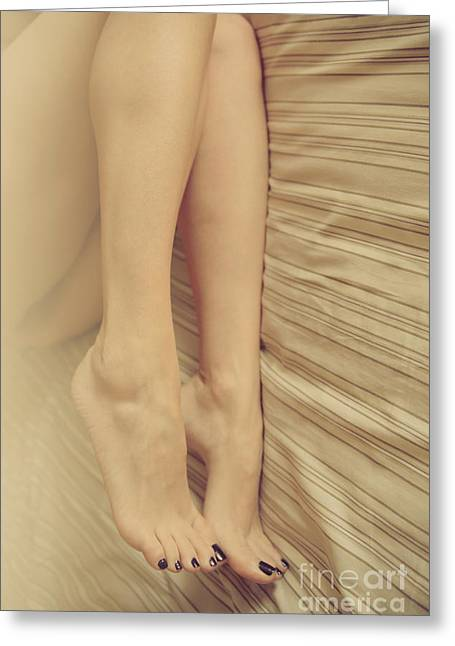 Beauty In Her Feet Greeting Card by Tos