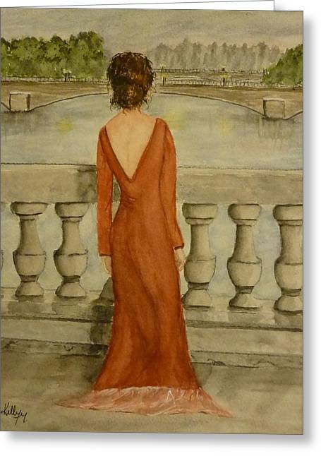 Greeting Card featuring the painting Beauty In Paris by Kelly Mills