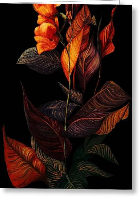 Beauty In The Dark Greeting Card by Yolanda Raker