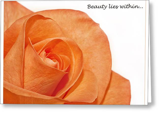 Greeting Card featuring the photograph Beauty Lies Within... by Kim Andelkovic