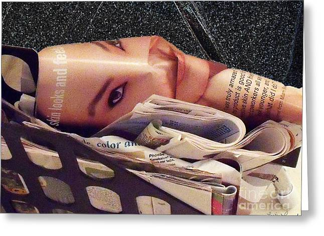 Beauty Magazine Greeting Card by Lyric Lucas
