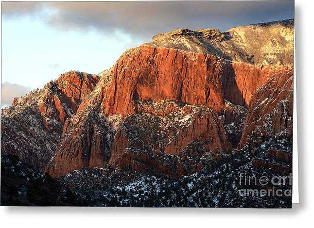 Beauty Of Kolob Canyon  Greeting Card by Bob Christopher