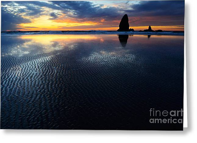 Beauty Of Oregon Cannon Beach 1 Greeting Card by Bob Christopher