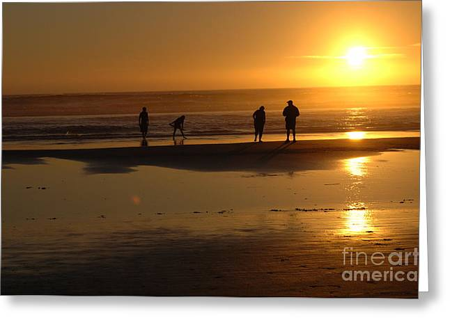 Beauty Of Oregon Sunset Cannon Beach Greeting Card by Bob Christopher