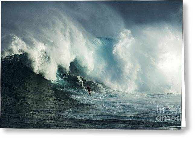 Beauty Of Surfing Jaws Maui 6 Greeting Card by Bob Christopher