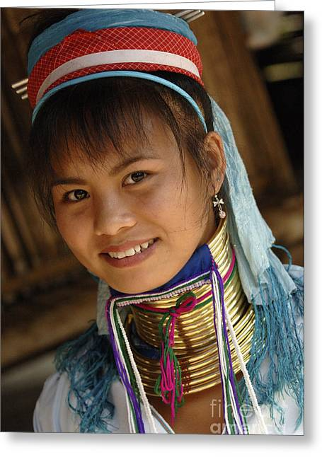 Beauty Of Thailand Long Necked Women 3 Greeting Card by Bob Christopher