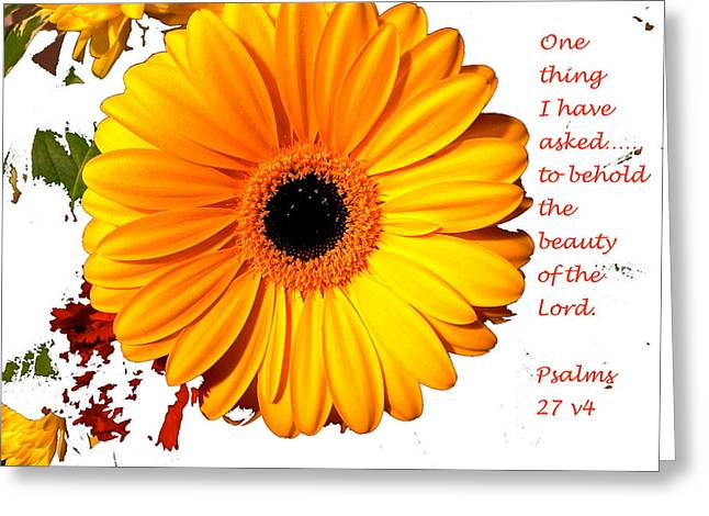 Beauty Of The Lord Greeting Card by Monique Grant-Patel