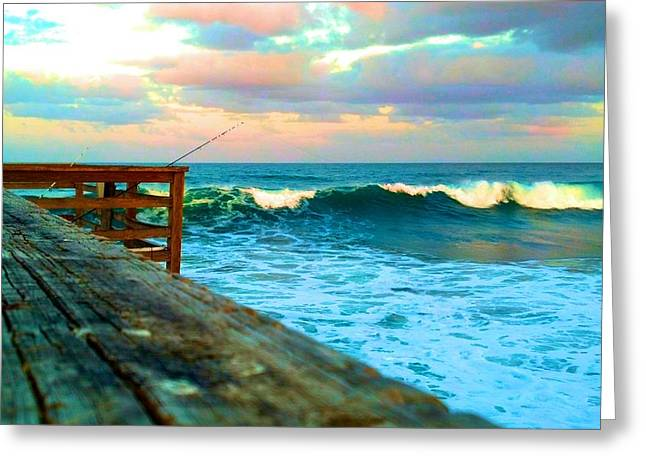 Beauty Of The Pier Greeting Card