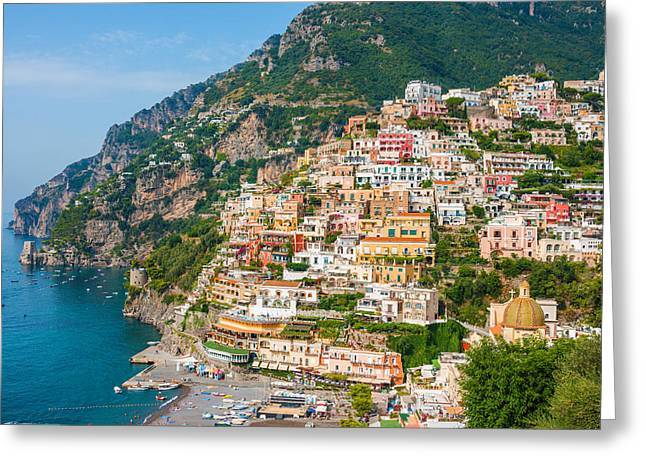 Beauty Of The Positano Greeting Card by Gurgen Bakhshetsyan