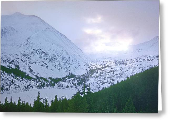 Beauty Of The Rockies Greeting Card