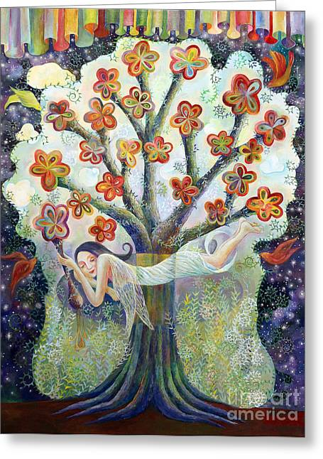 Beauty Of Tree Greeting Card by Manami Lingerfelt