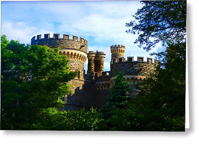 Beaver College Castle - Arcadia University Greeting Card by Bill Cannon