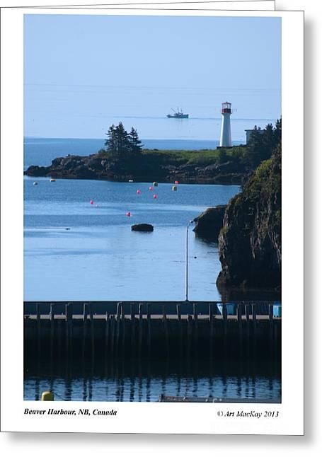 Beaver Harbour Nb Canada Greeting Card