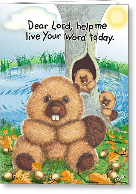 Beaver Greeting Card