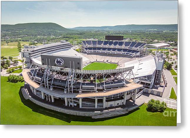 Beaver Stadium And Mount Nittany Aerial Greeting Card by Amesphotos