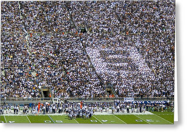 Beaver Stadium S Zone Greeting Card by William Ames