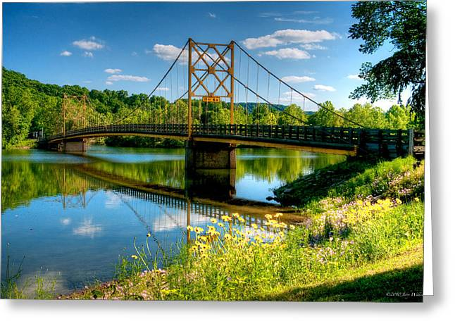 Beaver Town Bridge Greeting Card by Jerry Williamson