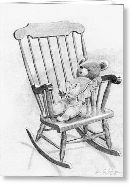 Greeting Card featuring the painting Becky's Teddy by Dan Redmon