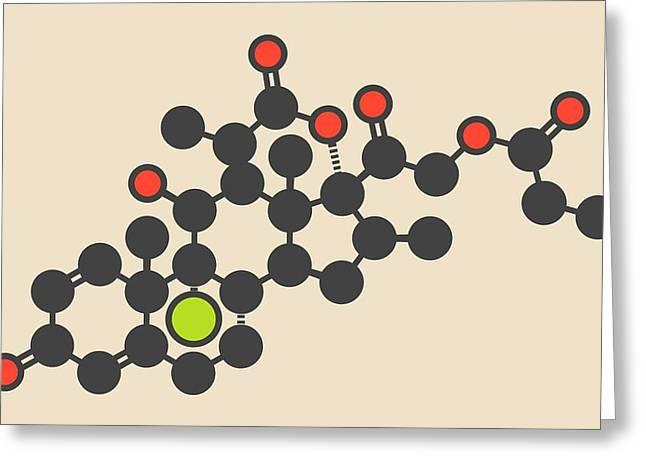 Beclometasone Dipropionate Drug Molecule Greeting Card